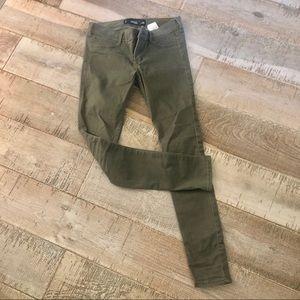 Holister olive jean legging 25